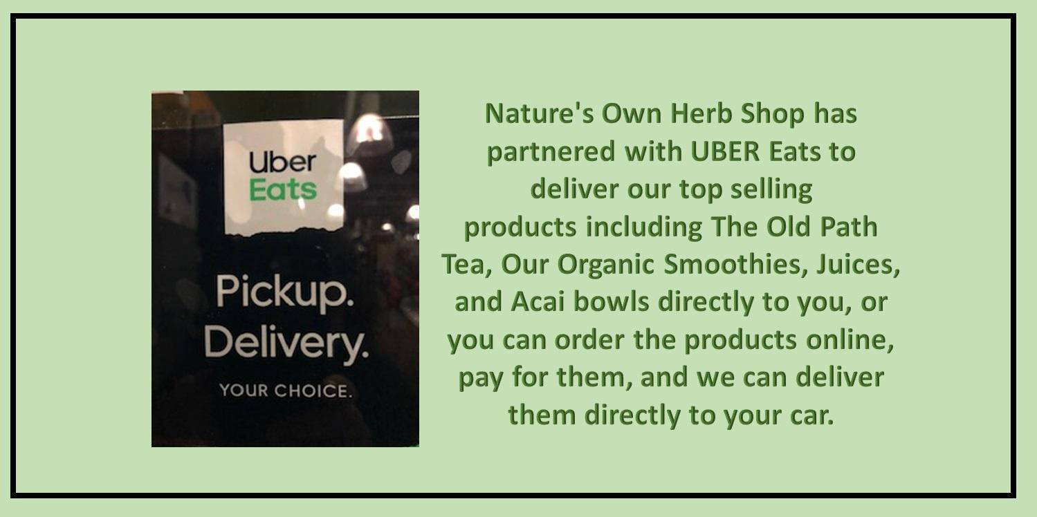 Nature's Own Herb Shop Uber Partnership Slider